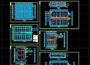 某厂房冷库电气平面图图片