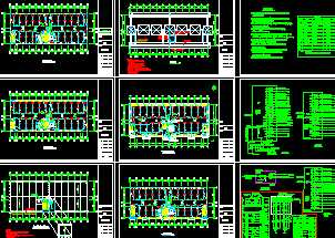 某工厂四层车间电气设计图图片