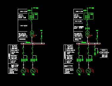 低压水电站电气主接线图