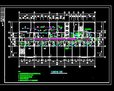 宾馆消防烟感系统图纸
