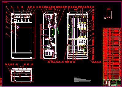 ggd型交流低压配电柜总装配图