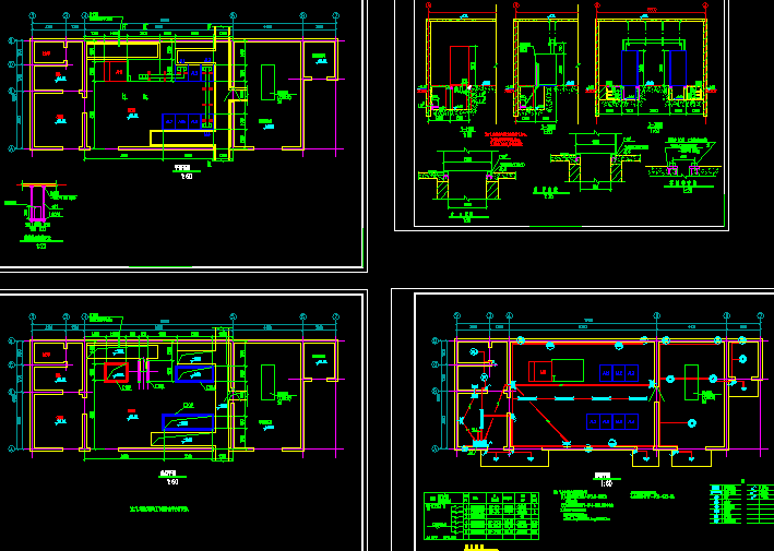 某高速收费站配电房电气设计图