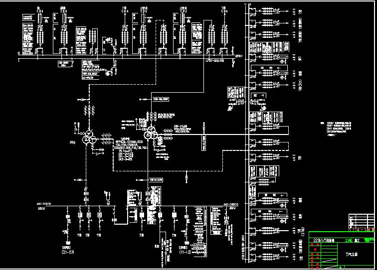 某220kv变电站一次主接线图