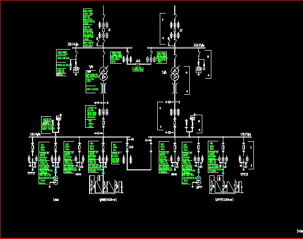 35kv变电站主接线及总平面图免费下载