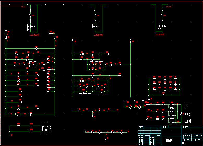 变压器保护监控接线图