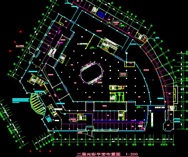 某商场电气平面图