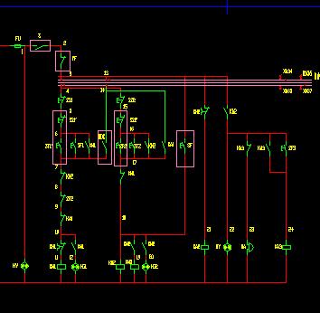 90kw电机自耦降压启动柜原理图