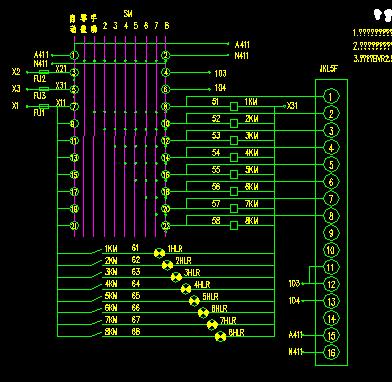 一台软起动器拖动两台电机原理接线图