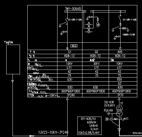 4kv设备控制电气主接线图