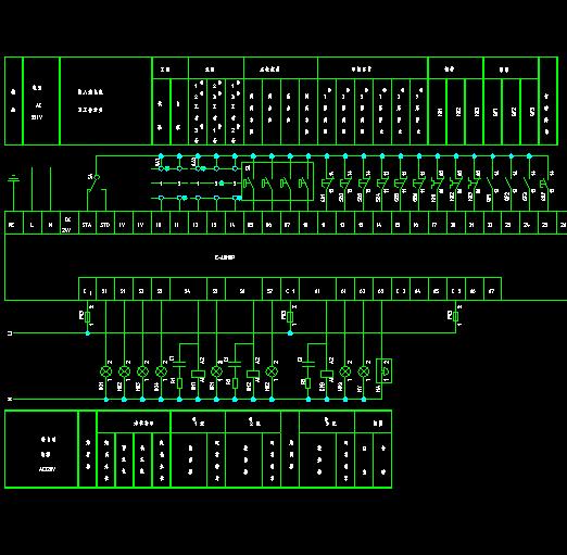 控制装置可编程序控制器输入输出接线图