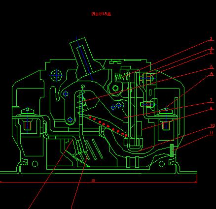 小盐场工程线变组保护测控装置接线原理图