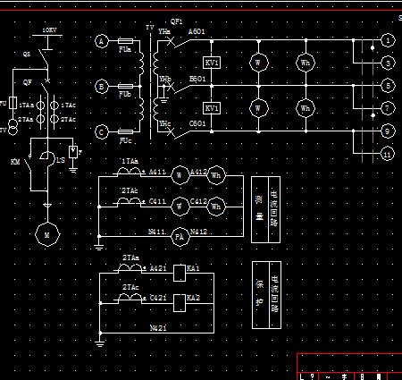 風機高壓控制柜電氣原理圖