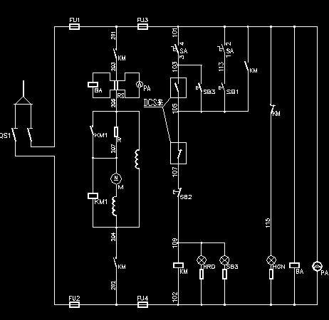 发电机直流润滑油泵电动机接线图