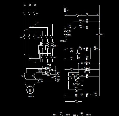 电动机自藕降压启动控制图图片