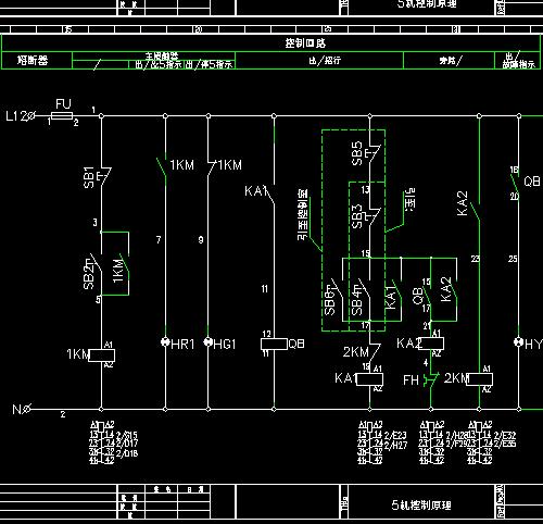 软启动电机控制原理图