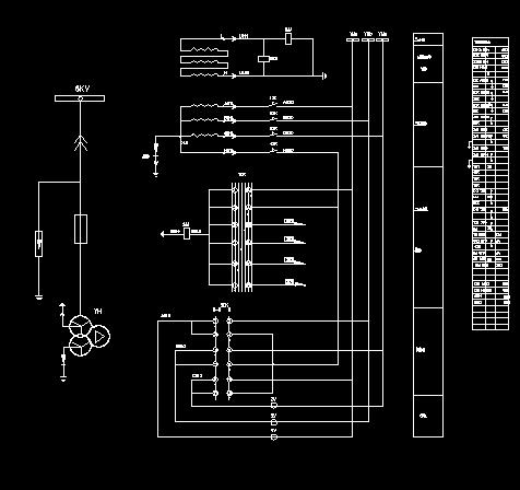 变电所电压互感器柜二次接线图免费下载图片