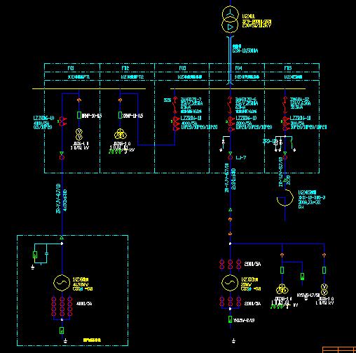 发电机出口10kv配电装置接线