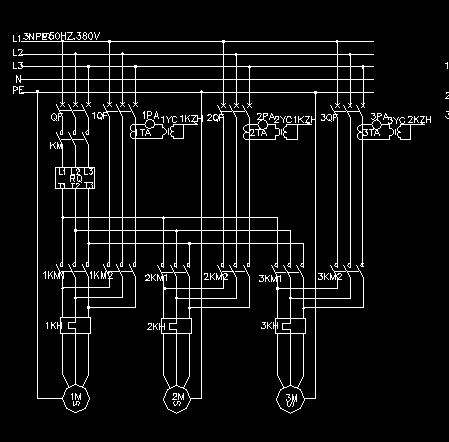 消防泵及稳压泵控制电路图