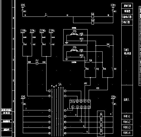 电容补偿柜电气二次原理图