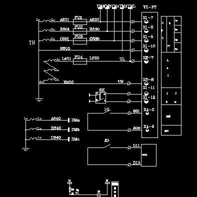 10KV开闭所图纸电气图免费下载-图纸电气-xps-al原理继电器图片