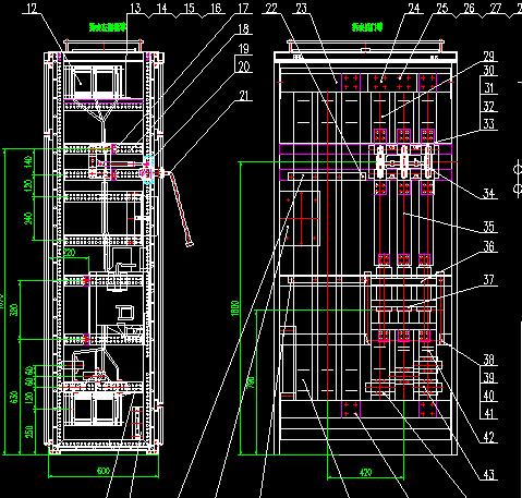 ggd型交流低压配电屏二次接线图