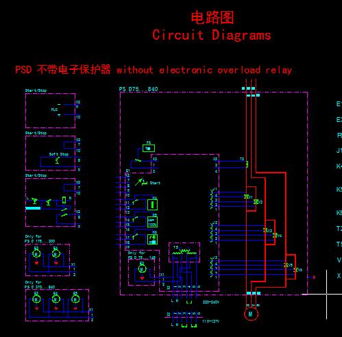 软启动器电气接线图及控制原