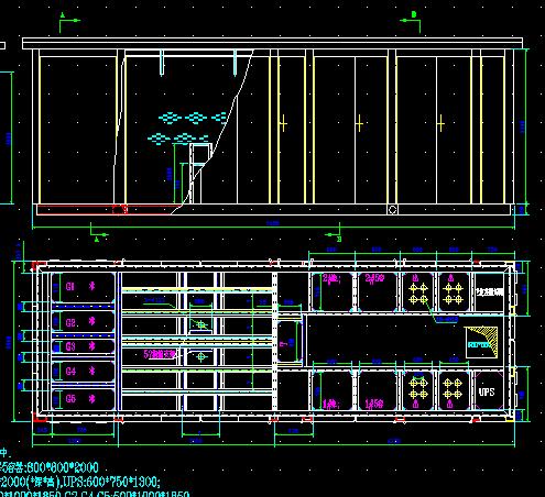 双变压器箱变基本骨架装配图免费下载duo事务建筑设计图片