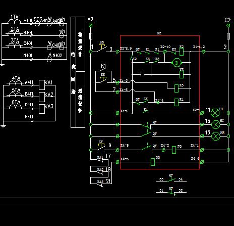 发电机控制屏接线原理图