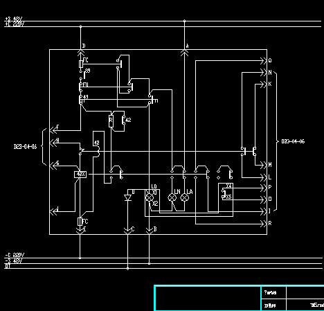 某电厂改造工程水泵电动机控制回路图