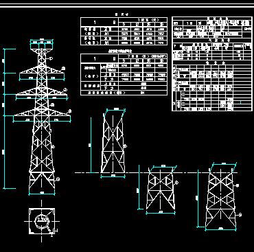 7738铁塔典型设计电力系统图