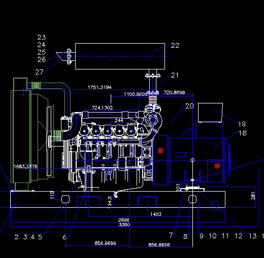 重传柴油发电机电气原理图