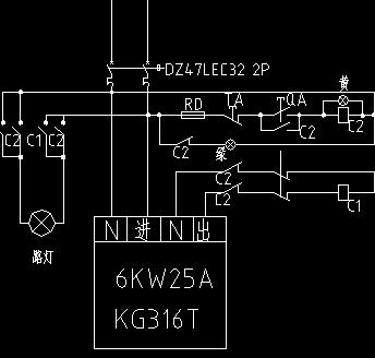 路灯按钮接触器联锁电路图