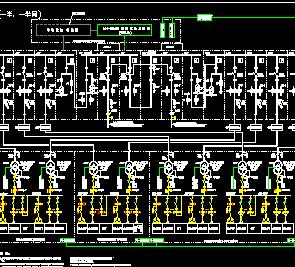 设备进线端止的电路系统,包括工厂内的变电所和所有的高低压供电线路.图片