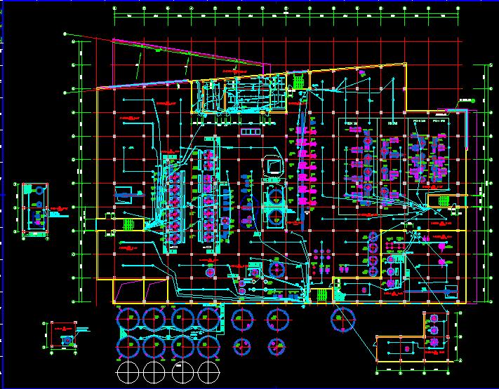 某化工生产车间电气照明施工图