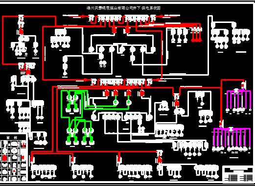 35kv高压配电室电缆沟平面图