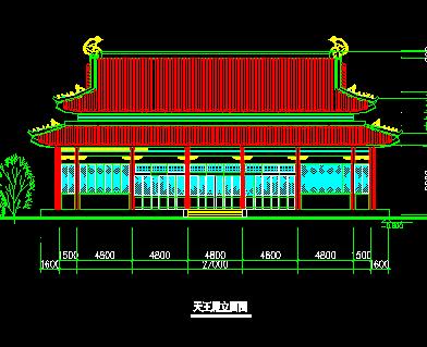 寺庙天王殿建筑设计图纸