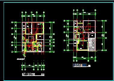 三层别墅强电弱电施工图