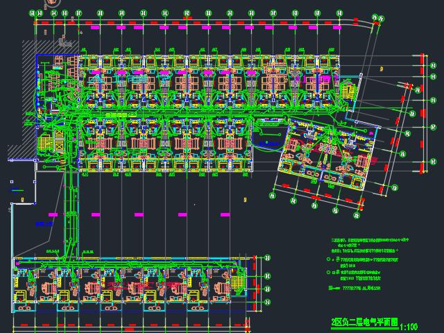 某宾馆装修电气平面设计图