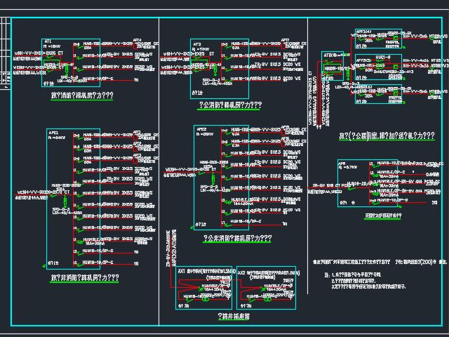 某商场地下层配电系统图