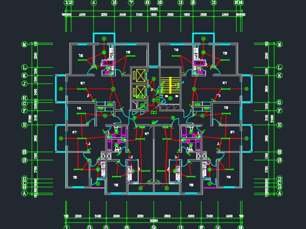 十七层住宅楼电气施工图