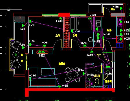 样板房隐藏图纸电气免费下载cax怎么装修图纸虚线图片