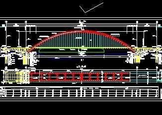 中承式系杆图纸v图纸工装免费下载图纸看学拱桥图片