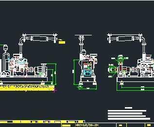 柴油机消防水泵安装图免费下载 独立泵房及机房图