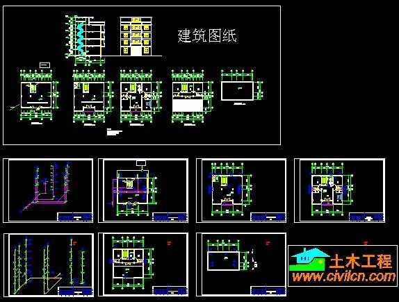 5层住宅给排水设计图