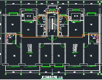 某小区住宅楼给排水系统设计图