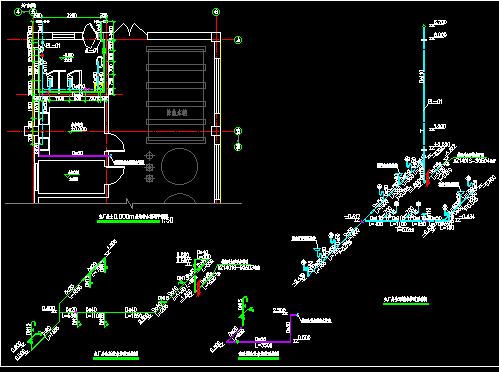 电站主厂房室内给排水管道安装图