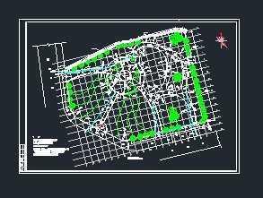 鸭形玻璃注图片俯视图-某交叉口游园广场竖向排水设计图免费下载 市政小区给排水图