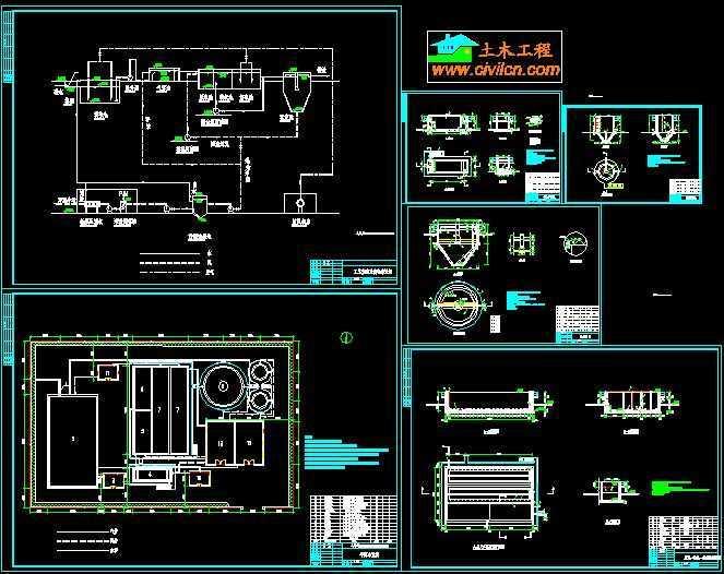 工艺流程及高程布置图