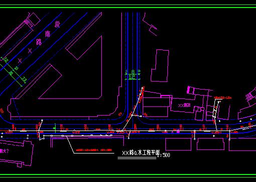 某道路排水工程竣工图纸