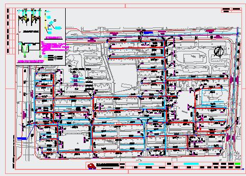 某村镇污水治理排水管道设计图
